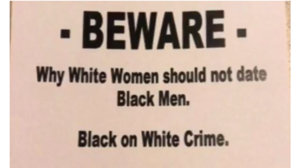 Racist fliers disbursed in Illinois can literally kill you: police