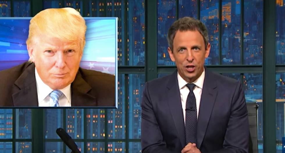 Seth Meyers mocks Trump's Miss Universe obsession: 'Nothing creepier than hanging around beauty pageants'