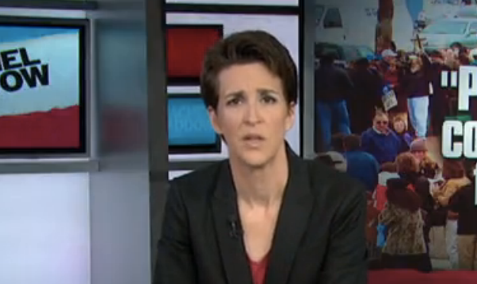 Maddow jabs hypocritical Supreme Court: They get buffer zones, abortion clinics don't