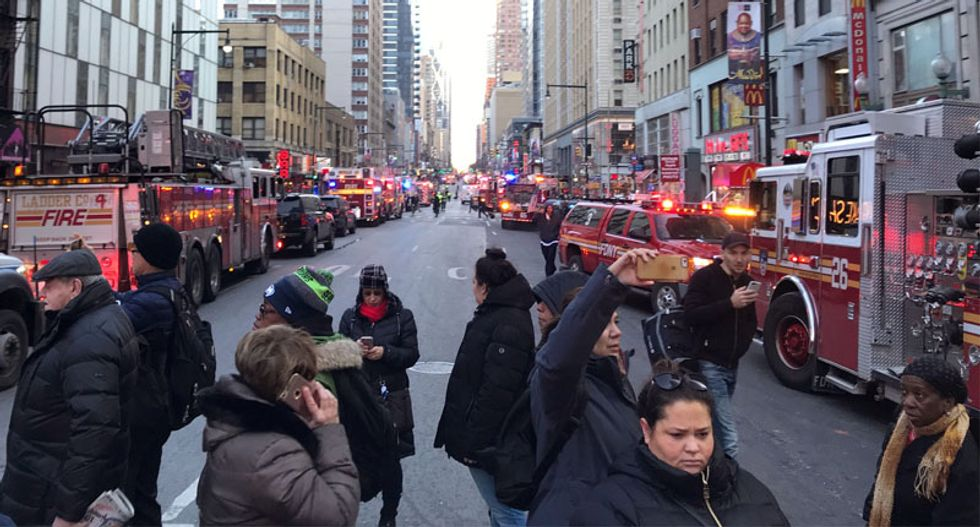 Suspect is the only injury after explosion rocks New York commuter hub