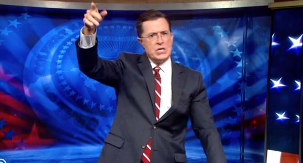 Stephen Colbert: Don't feed the homeless -- they'll come to expect it whenever they see humans