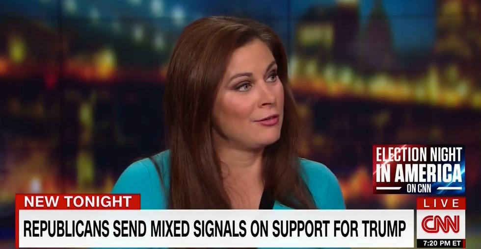 Erin Burnett calls out GOP not endorsing but voting for Trump: 'That is an endorsement'