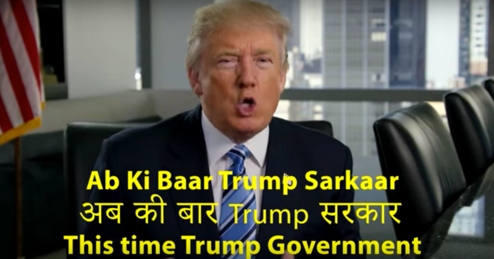 Indians are disgusted by Trump's weird Hindi ad: 'He is the living embodiment of ignorance'