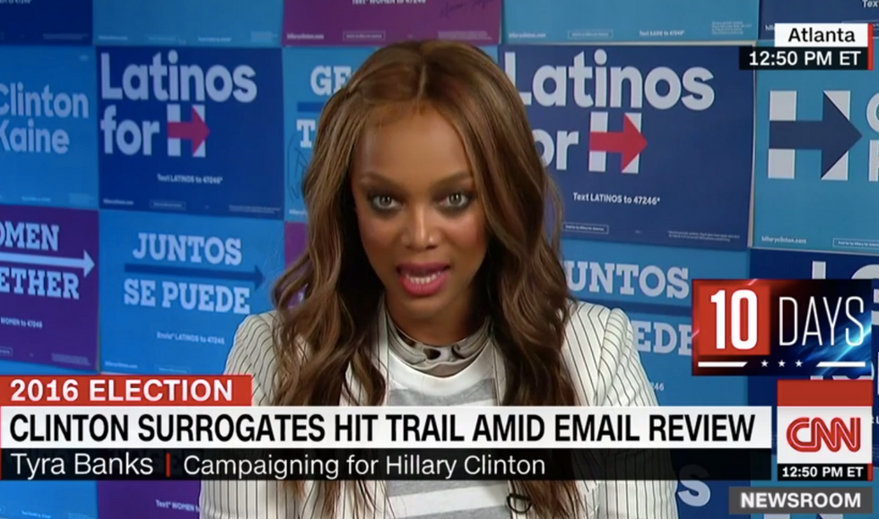 'Enough of the damn emails': Supermodel Tyra Banks quotes Bernie Sanders to defend Clinton