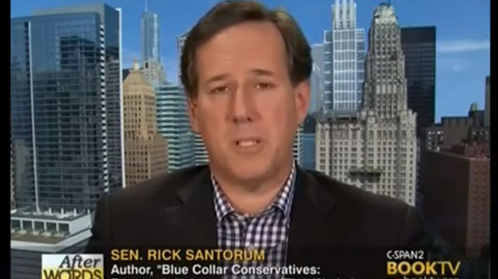 Rick Santorum: Founding fathers had right idea limiting those who could vote