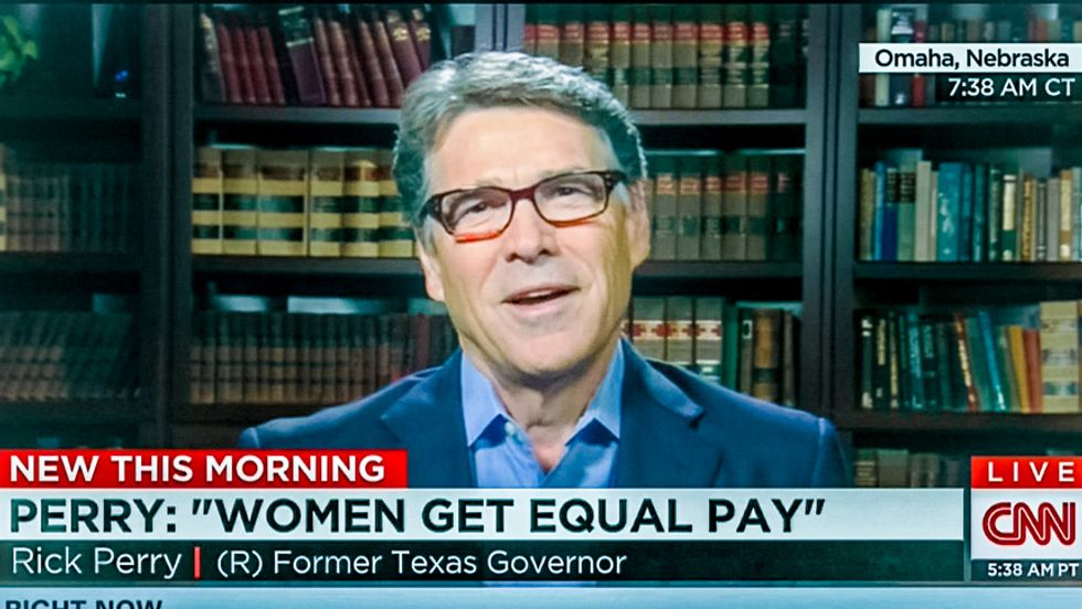 'Women get equal pay': Rick Perry doesn't want a bunch of girly fair wage laws 'jumbling up our code'