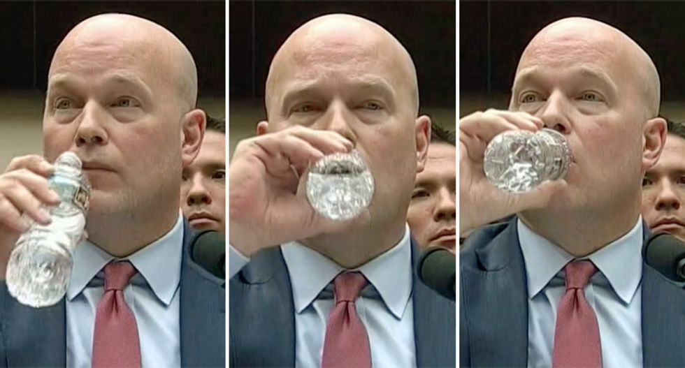 Maddow hilarously ridicules Whitaker's chugging water at congressional hearing with supercut showing every sip