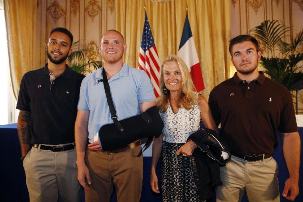 'US heroes' speak out after train attack: Don't ever just 'stand by and watch'