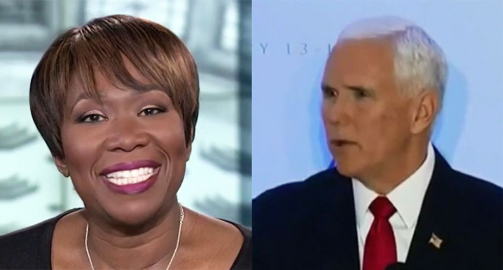 'Sad' Mike Pence ridiculed by MSNBC's Joy Reid for getting the silent treatment from diplomat audience