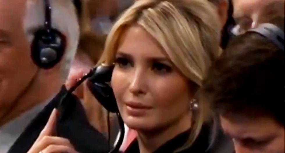 WATCH: Ivanka Trump stares blankly as Germany's Angela Merkel rips into her father