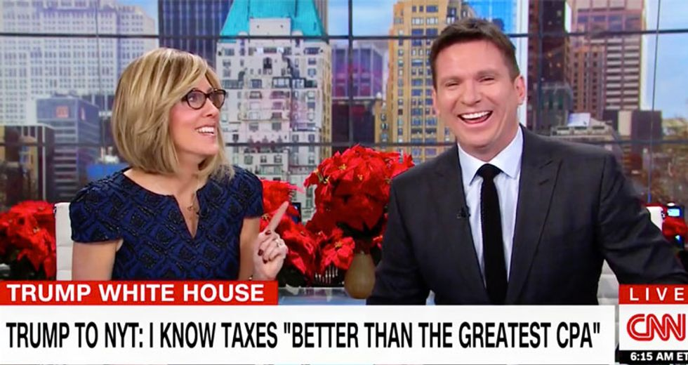 WATCH: CNN hosts can't stop laughing at Trump claim he knows 'details of health care better than most'