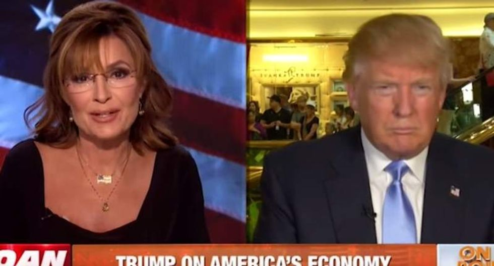 Sarah Palin and Trump complain about 'gotcha questions' after he can't name favorite Bible verse