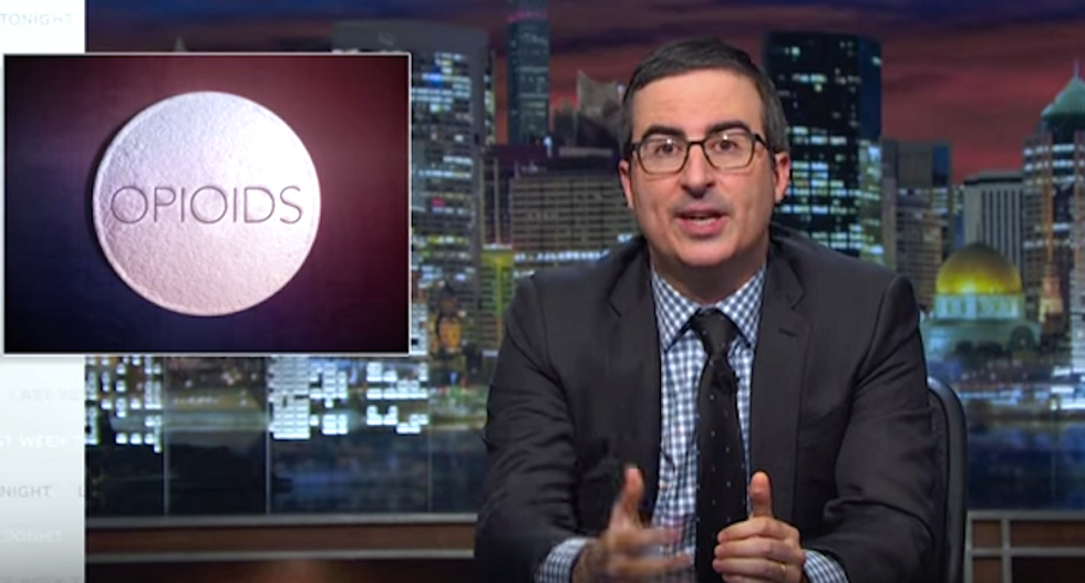 John Oliver pounds Big Pharma for making opioids as easy to find as Waffle House