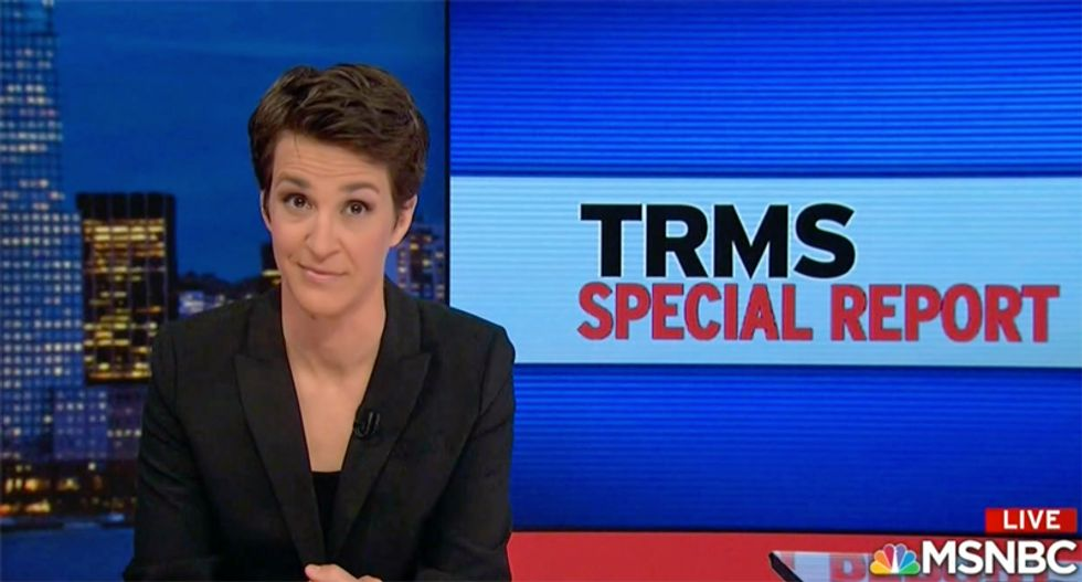 Maddow reveals former GOP VP's secret financial deal with Saudis to 'wage a scorched earth political war on Jews'