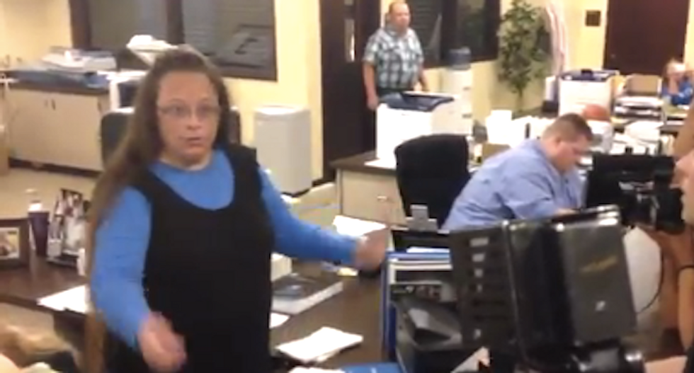 Kentucky clerk defies Supreme Court, denies marriage licenses to same-sex couples 'under God's authority'