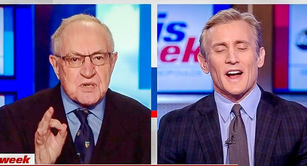 Alan Dershowitz makes unhinged claim that Trump has right to counter Mueller with simultaneous 'rebuttal report'
