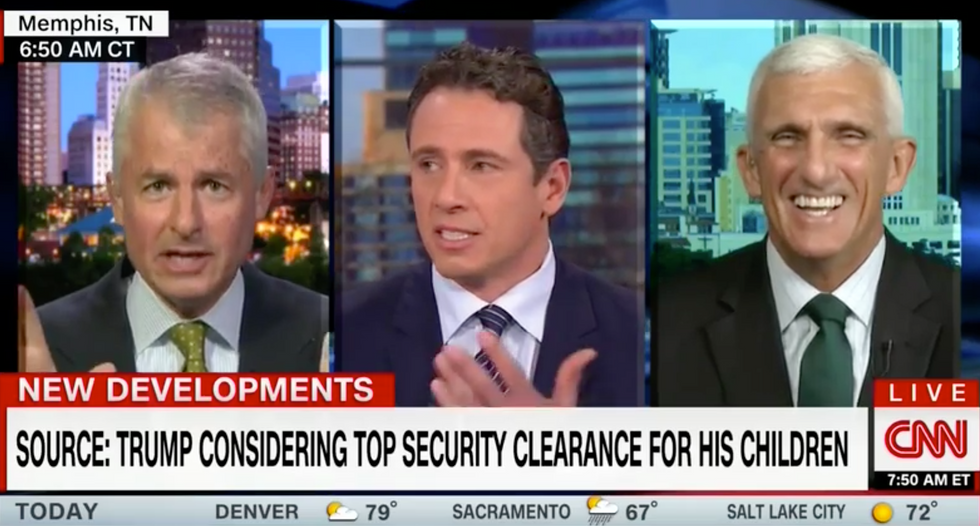 'You need to be quiet son': CNN guest spars with Chris Cuomo over Trump kids' security clearance