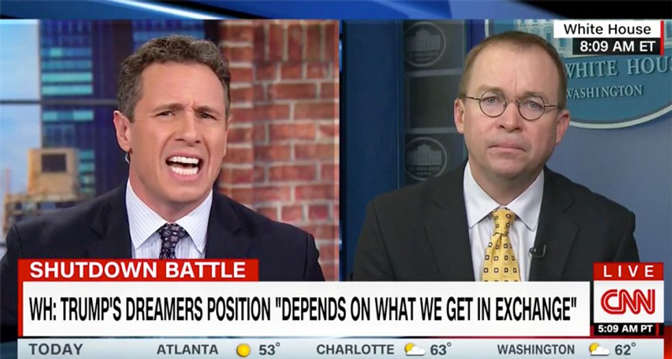 CNN's Cuomo relentlessly grills Trump's budget chief for refusing to explain his position on Dreamers