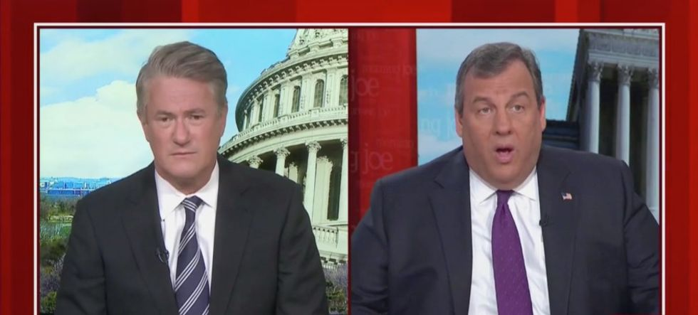Chris Christie claims Democrats are as crazy as Trump's GOP — and MSNBC's Morning Joe slaps him down