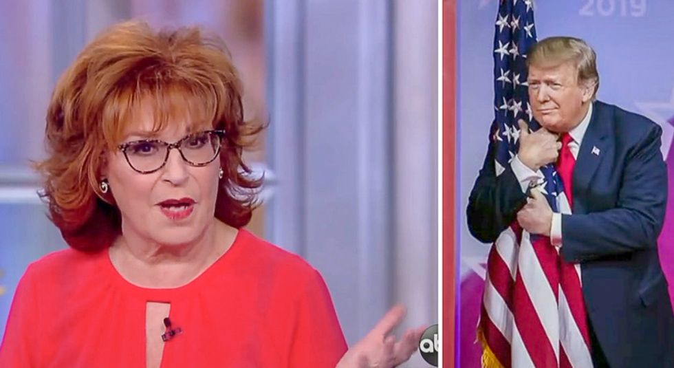 The View's Joy Behar: If Trump hugged the flag any closer at CPAC 'he would have to pay it hush money'
