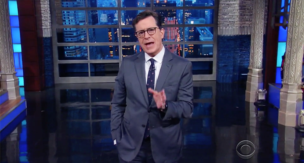 'Those Women are Liars': Stephen Colbert suggests alternate campaign slogans for Trump 2020