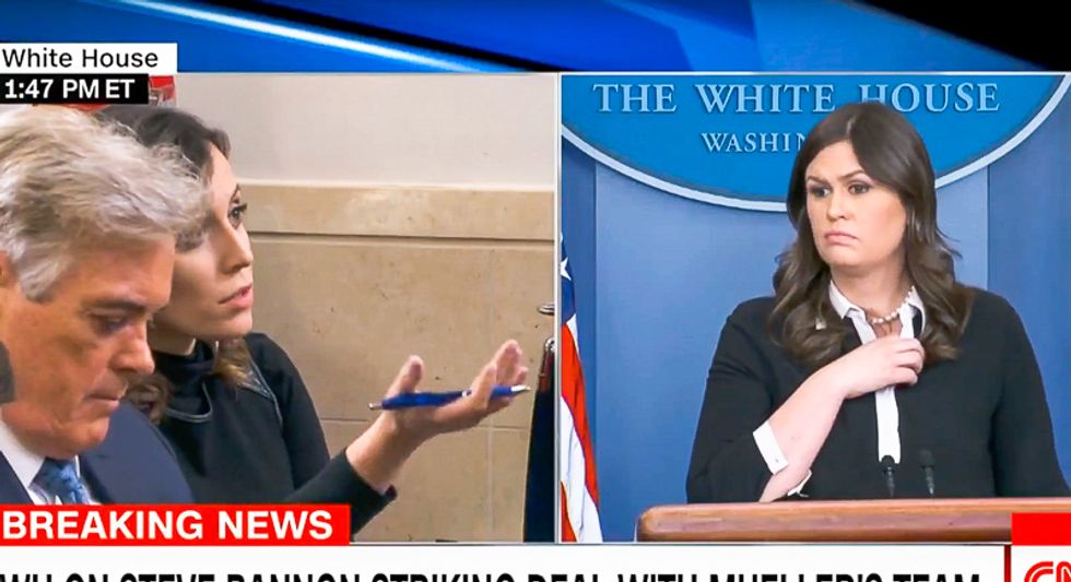 Reporters grill Sarah Sanders on Mueller subpoenas: 'Is the White House afraid of what Bannon might say?'
