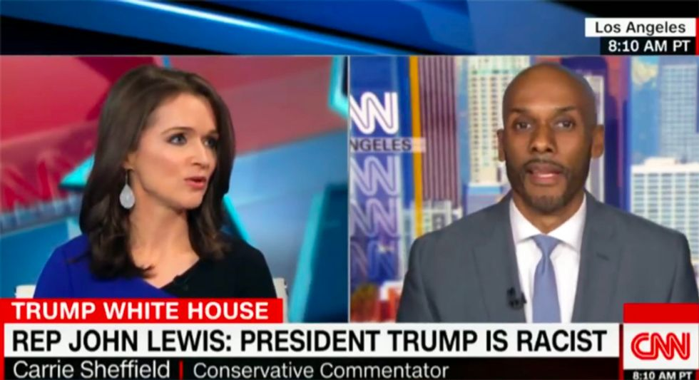 'Ridiculous!': CNN's Boykin shouts down GOPer over 'nonsense' claim that Trump makes black people's lives better