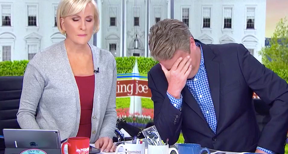 MSNBC's Morning Joe and Mika howl with laughter at Fox & Friends for spinning Trump's billion-dollar losses