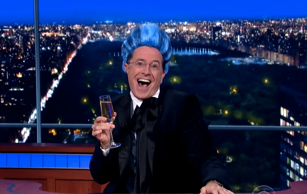 Stephen Colbert calls for 2016 presidential Hunger Games: 'May the margin of error be ever in your favor'