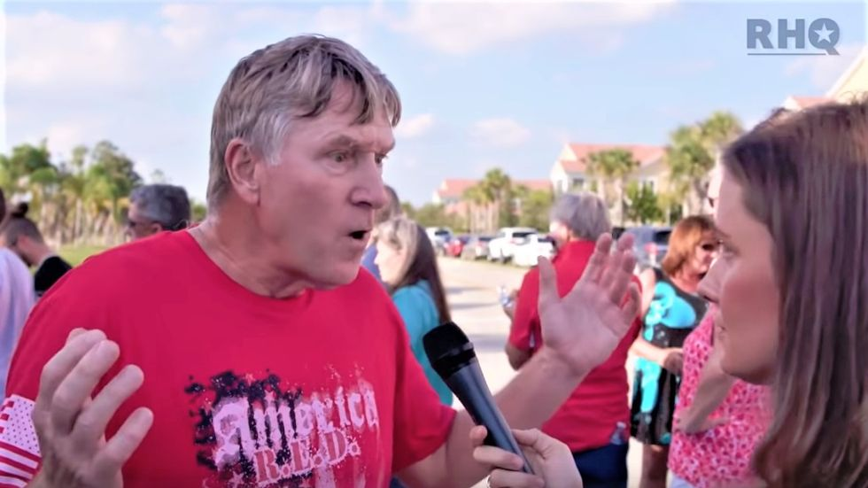 Flailing Trump supporter insists #MAGAbomber and Pittsburgh killer are 'socialists' in train-wreck interview