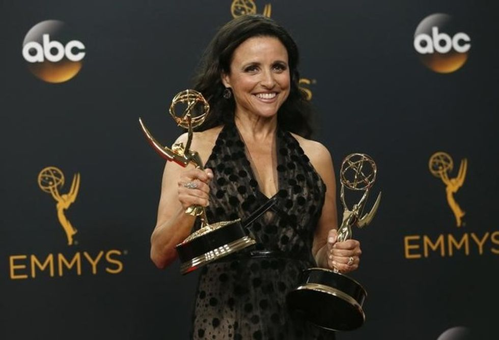 Trump gets skewered and Clinton finds support at TV's Emmy awards