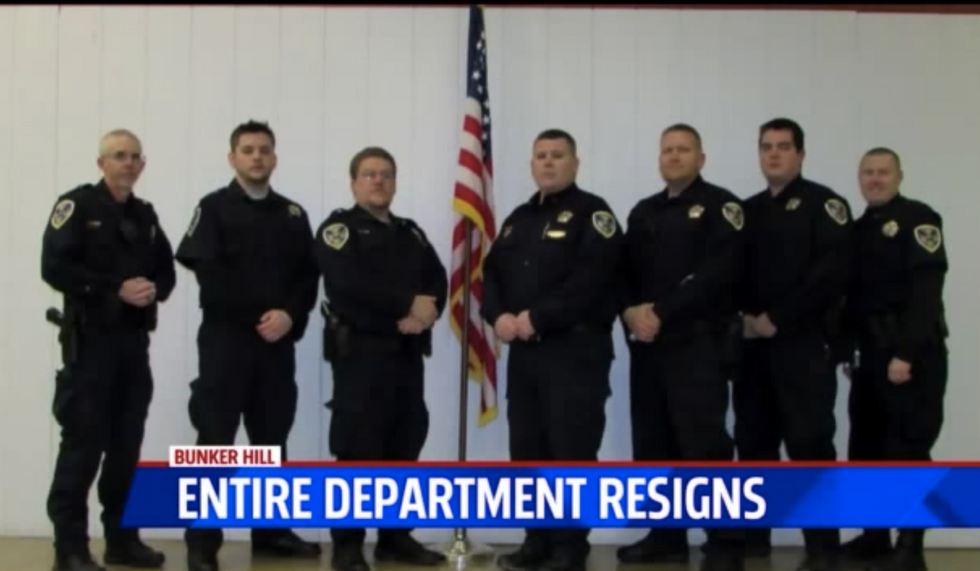 Indiana town left without police department after entire force resigns