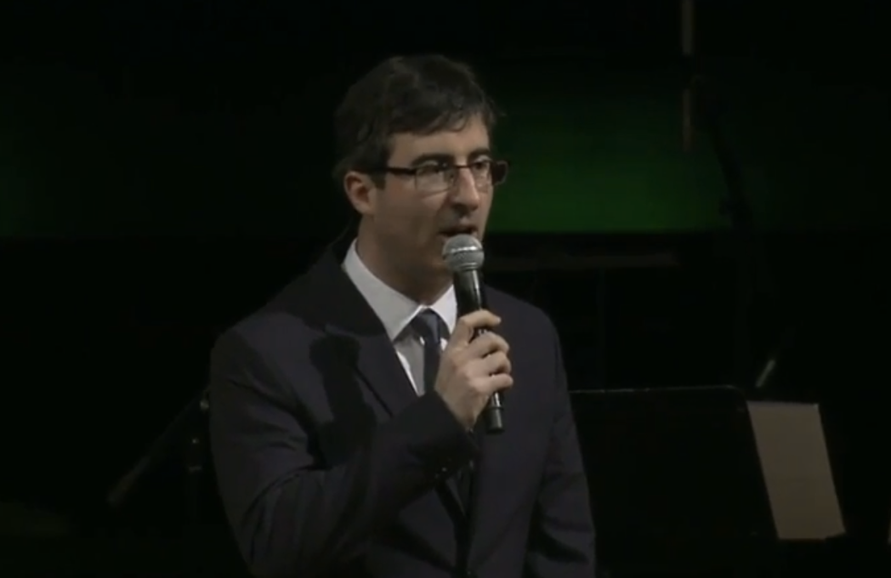 John Oliver reams wealthy, entitled 'dweebs' at tech awards show: 'F*ck you, straight away'