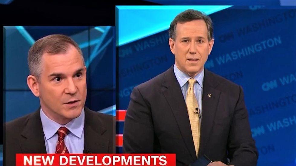 Rick Santorum reduced to sputtering after CNN panel hammers Trump's health care plan