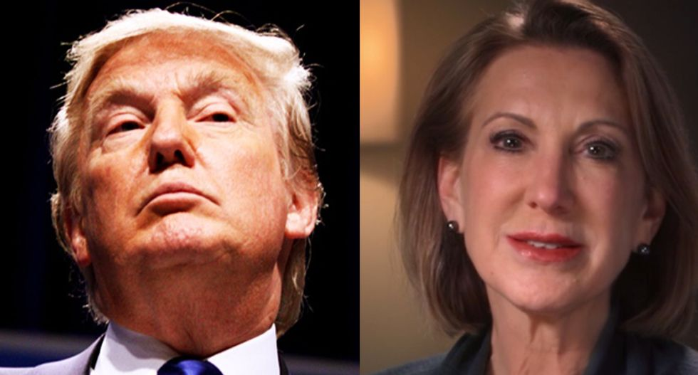 Trump launches late night Twitter assault on Fiorina mocking her business experience