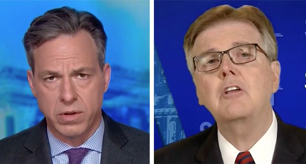 Texas Lt. Gov. Dan Patrick loses it at Jake Tapper over gun control: 'I didn't come on to go through the entire penal code'