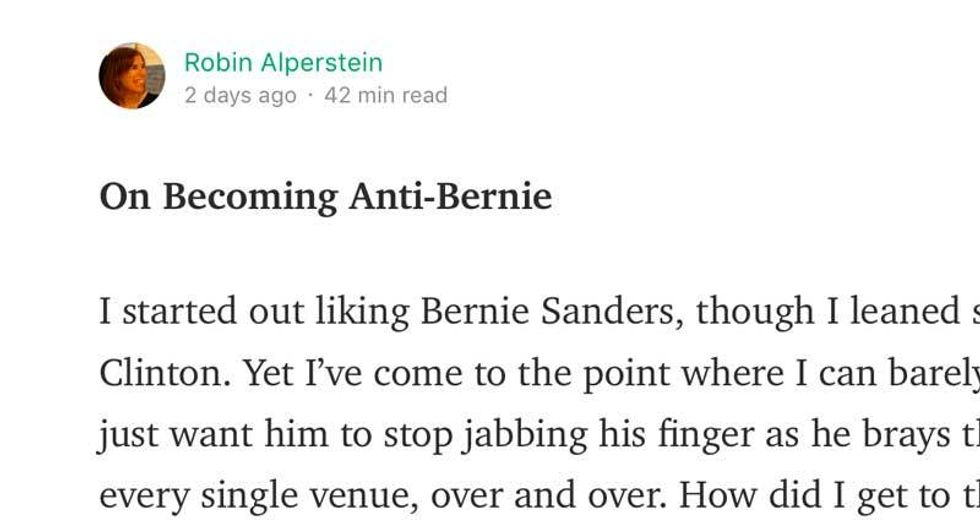 Surprise! Author of viral 'Becoming Anti-Bernie' piece is corporate lawyer who defends hedge funds