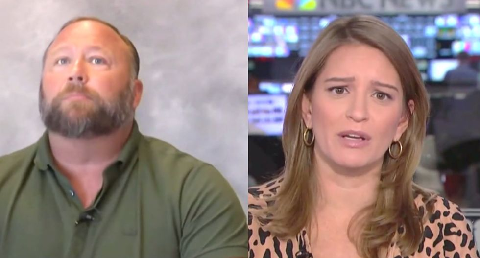 MSNBC's Katy Tur absolutely destroys Alex Jones after he claims 'psychosis' made him lie about Sandy Hook