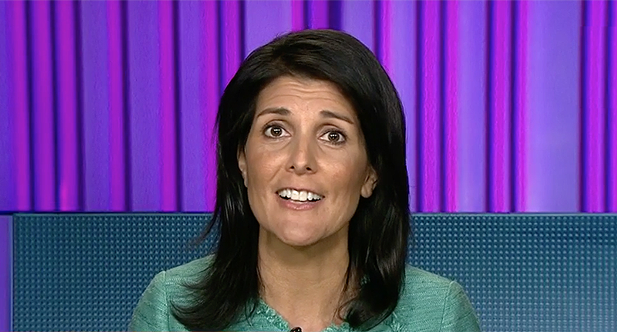Nikki Haley is spreading myths for white people that cover up the truth of her own personal history