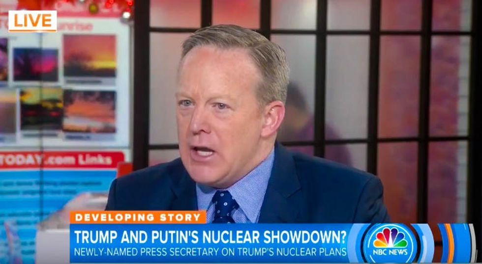 Trump spokesman quickly contradicts Trump: 'There is not going to be' a nuclear arms race