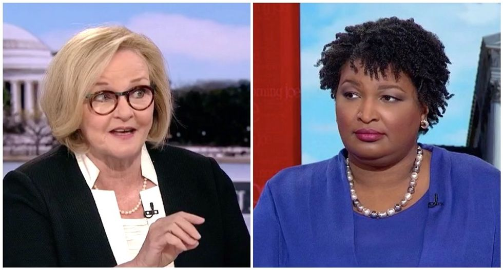Claire McCaskill begs Stacey Abrams to run for Senate -- and break Mitch McConnell's stranglehold on democracy