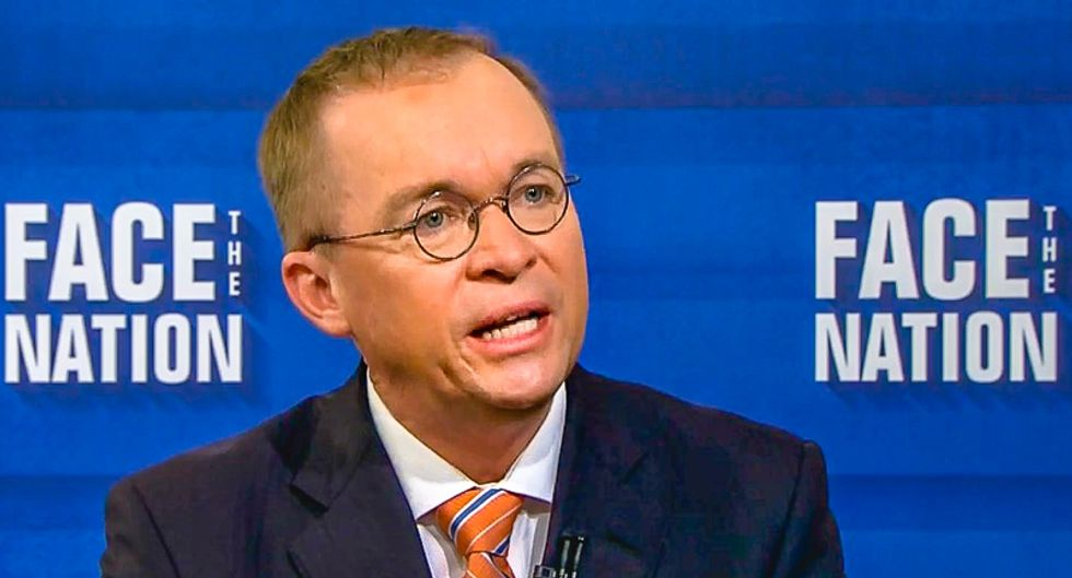 OMB head Mick Mulvaney told bankers that more money will get them more access