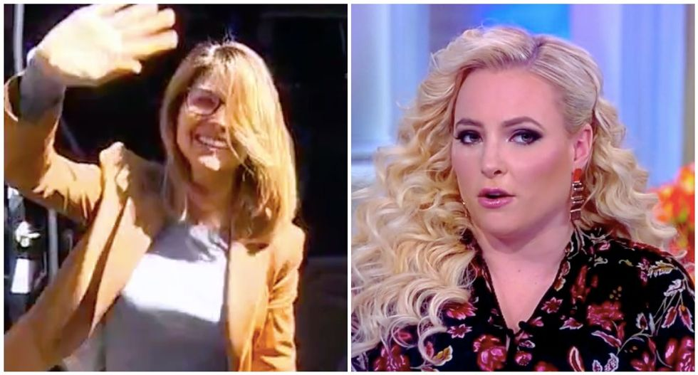 The View's Meghan McCain thumps actress Lori Loughlin as 'the face of white privilege'