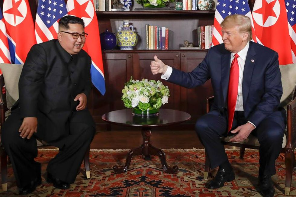 'Tripling down on stupid': Internet buries Trump in ridicule after he tweets a 'very nice note' from Kim Jong-un