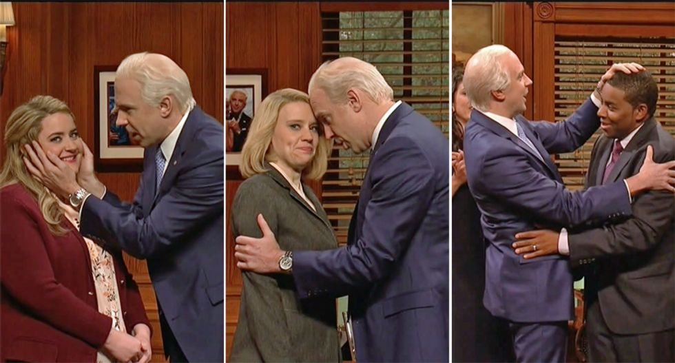 Saturday Night Live takes on Joe Biden's issues with personal boundaries
