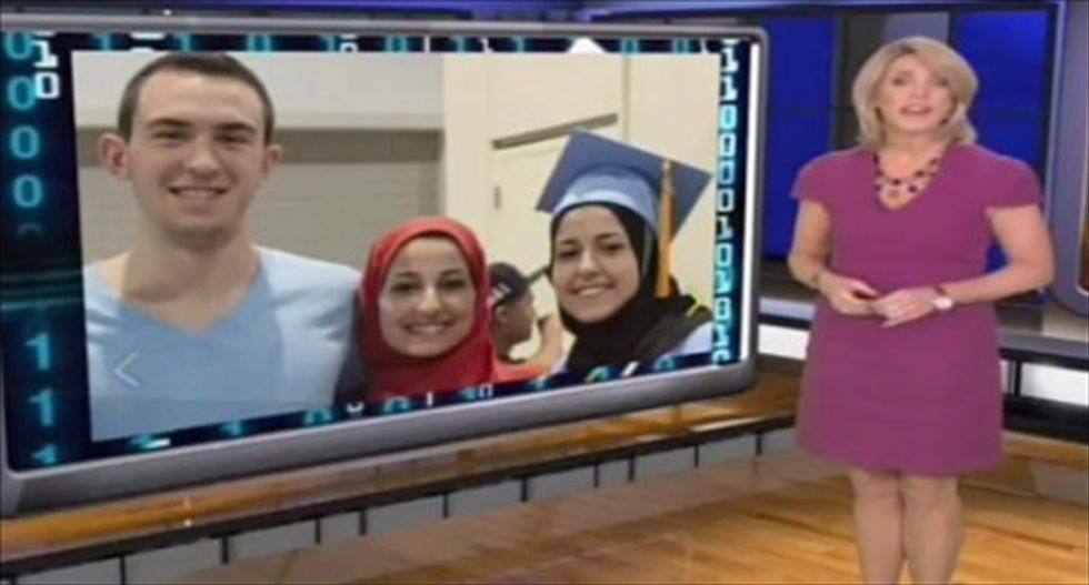 WATCH: 'Inside Edition' tastelessly uses Chapel Hill Muslim shooting to set up parking 'code' segment