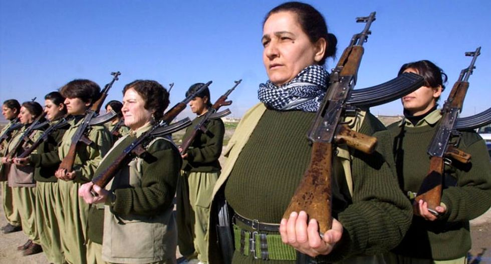 A look at the Kurdish women battling on the front lines against Islamic State jihadists