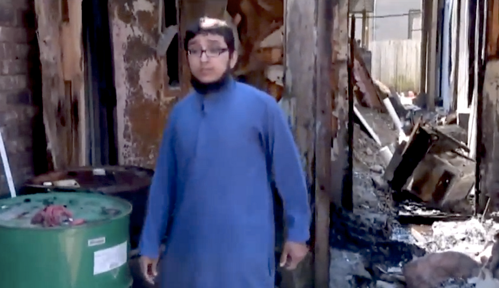 Homeless man charged with arson in Houston Muslim building fire