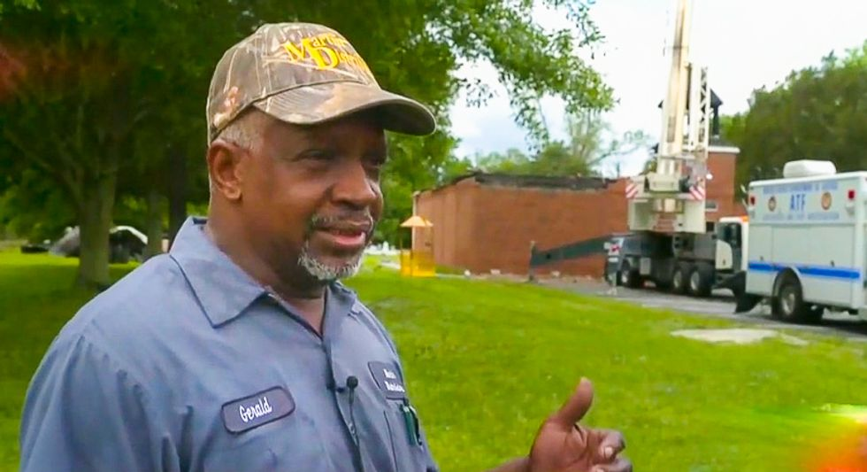 Pastor of 145-year-old burned black church: 'I love this country -- I wasn't born in Africa'