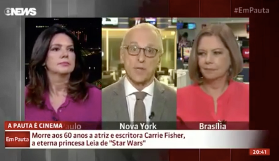WATCH: News anchor makes excruciatingly awkward 'Chewbacca' noise during Carrie Fisher tribute